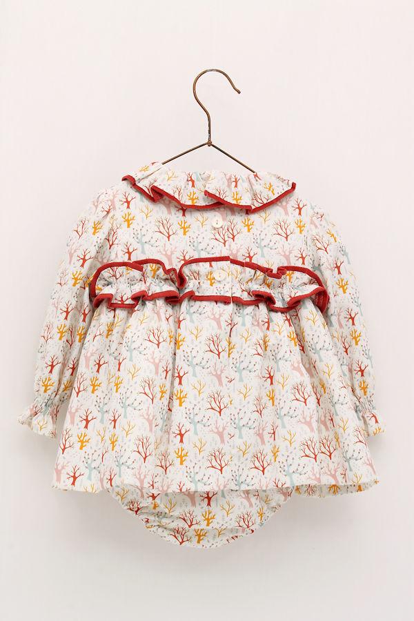 Foque red trim printed dress