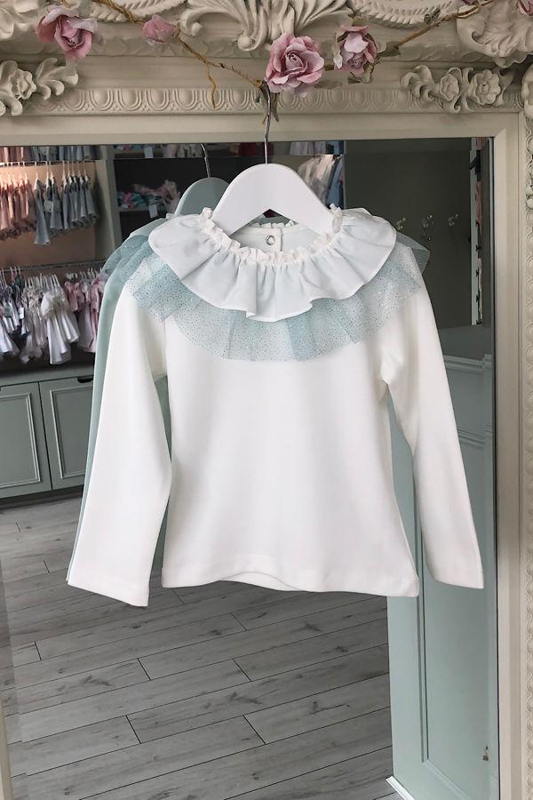 Olivia blue tulle bow t shirt