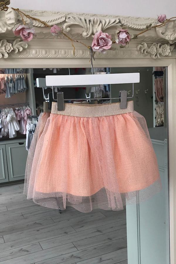 Olivia peach tulle skirt