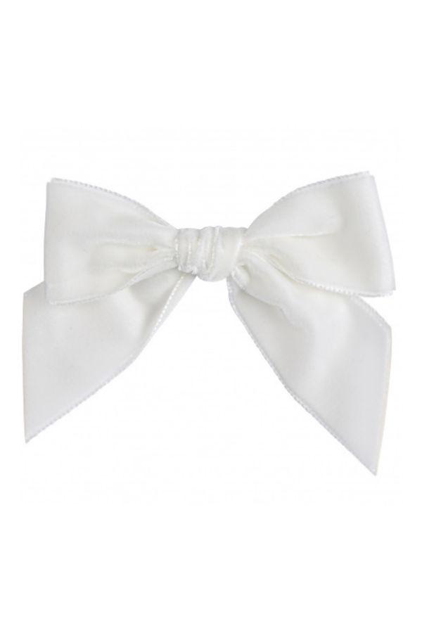 Condor cream velvet hair bow