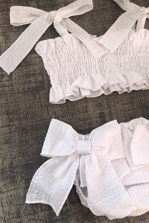 Ibiza white bow bikini