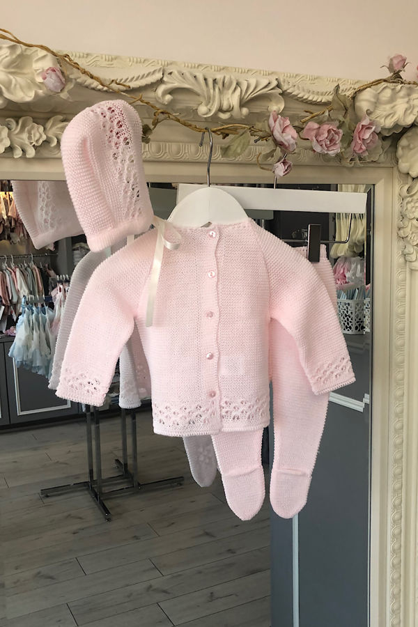 Casey knitted set pink