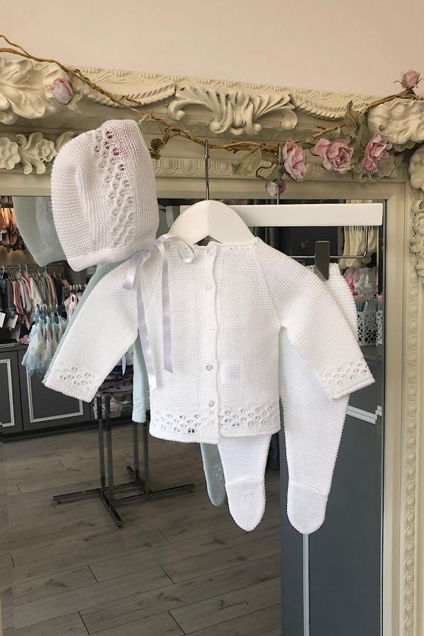 Casey knitted set white