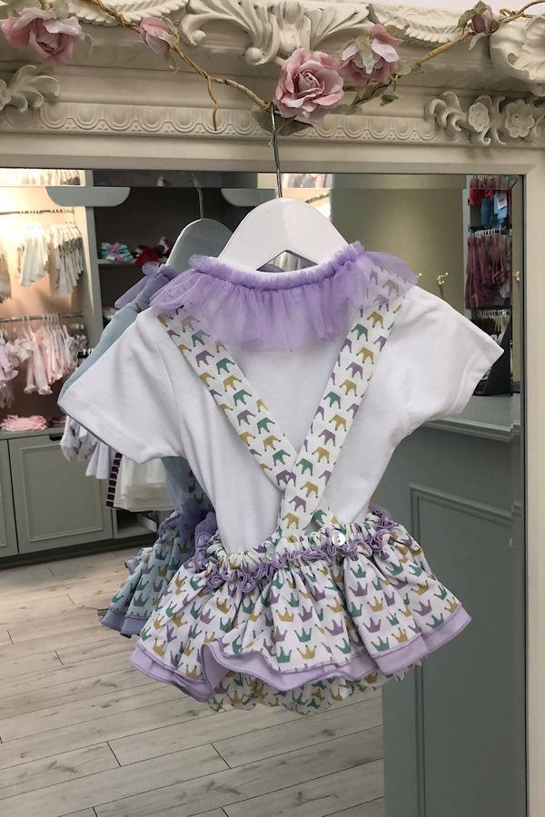 Olivia lilac romper and t-shirt set
