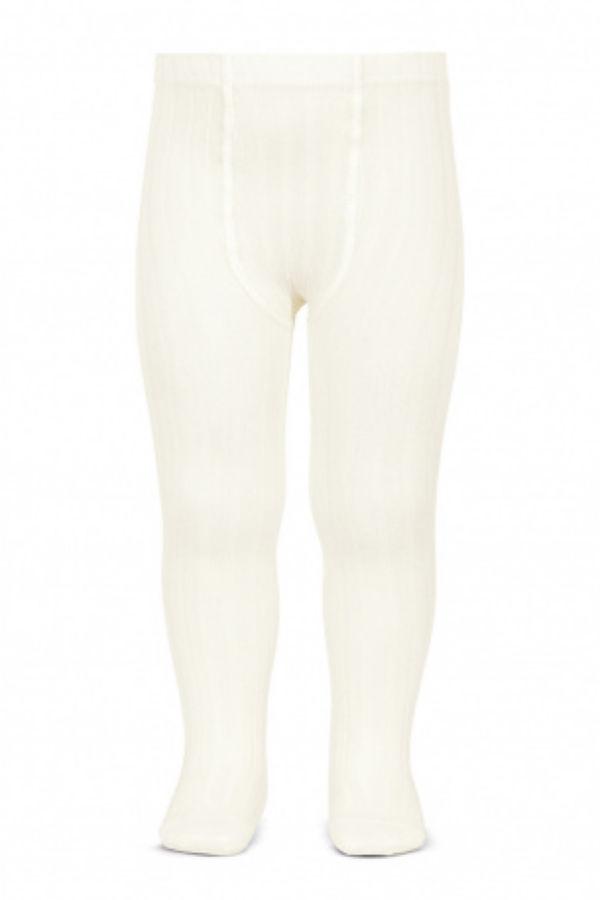 Condor cream ribbed tights