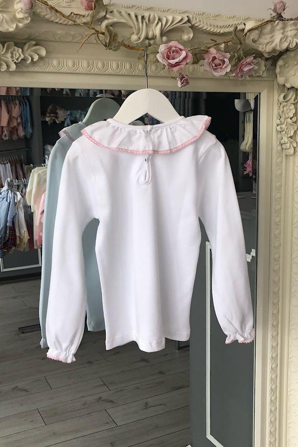 pink trim long sleeved top