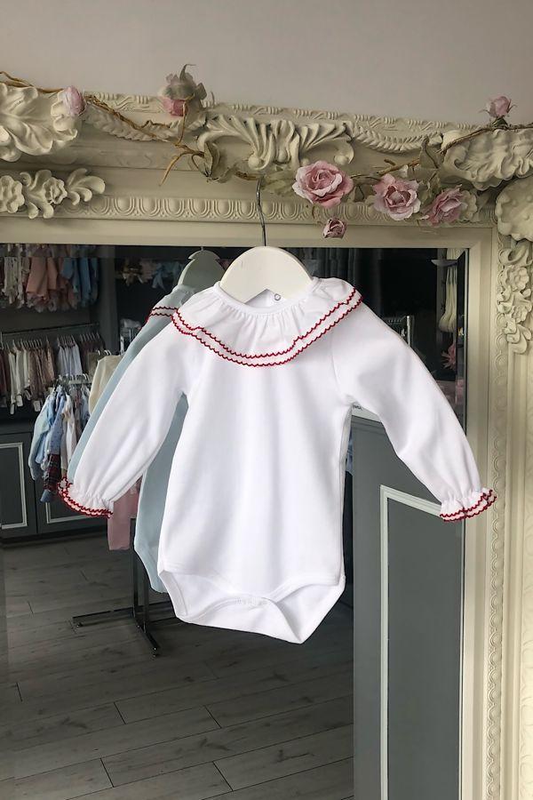 Red trim long sleeved vest